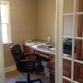 Meet with a bail bondsman in a private office